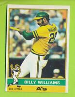 1976 Topps - Billy Williams (#525)  Oakland Athletics