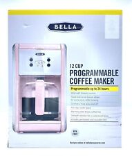 Bella 12 Cup Programmable Coffee Maker Pink Brand New Free Shipping