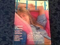 ELLE FRANCE Rivista Magazine 17 Agosto 1981 n.1858 GC Castelbajac