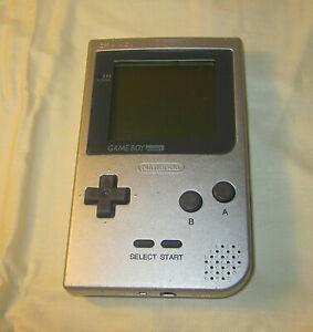 Nintendo Game Boy Pocket Silver Handheld System Working no battery cover NES