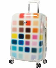 """NEW Steve Madden Cubic Luggage Large 28"""" Hardside Suitcase With Spinner Wheels"""