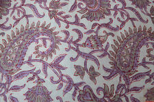 Fabric Sanganeri Running 3 Yard Indian Hand Block Print Pure 100% Cotton New