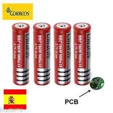 4X PILA RECARGABLE 18650 3000mAh Li-ion 3,7V UltraFire Litio Batería Protección