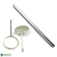 SPECCHIO Bocca TESTE no.5 x 2 con manico SPECCHIO libero, strumenti di ispezione dentale Nuova