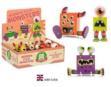 Kids Wooden FLEXI MONSTERS Fiddle Fidget Sensory Toy ADHD Stress Relief Gift UK