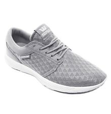 SUPRA Hammer Run Lightweight Mesh Trainer Sporty Gym Sneaker Shoe Grey White