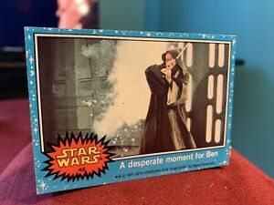 Star Wars 1977 Series 1 Topps Blue Card #46 A Desperate Moment For Ben