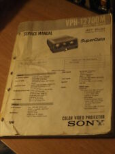 rare Original Service Manual VPH 1270 1270QM RM Sony CRT Projector