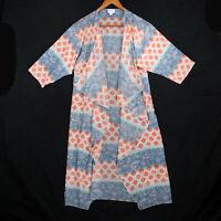 LuLaRoe Women's Blue Sheer Paisley Shirley Long Cardigan Top - Size Small