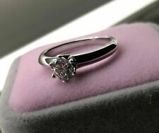 0.75 CT ROUND CUT DIAMOND SIMULATED SOLITAIRE RING 14K WHITE GOLD ENHANCED