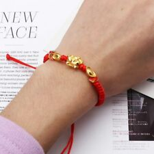 Lucky Kabbalah Red String Braided Golden Pig Charm Bracelets Fashion Jewelry