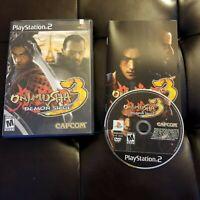 Sony Playstation 2 PS2 Onimusha 3 Demon Siege Capcom 2004 Complete CIB Game