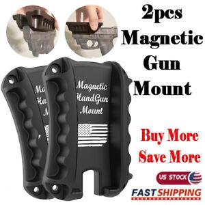 2PCS concealed magnetic gun mount magnet pistol holder holster for home car desk