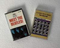 "2 Beatles albums on audio cassette ""Meet the Beetles"" & ""A Hard Days Night"""
