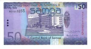SAMOA $50 Tala aXF Commemorative HYBRID Banknote (2012 ND) P-42 Prefix RE