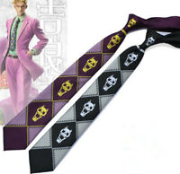 New JoJo's Bizarre Adventure Cosplay Kira Yoshikage KILLER QUEEN Skull Neck Tie