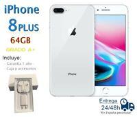 IPHONE 8 Plus 64GB Blanc Reconditionné Libre / Qualité A Boîte Et Accessoires