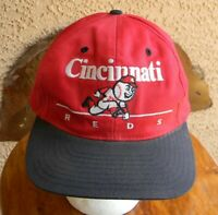 VTG CINCINNATI REDS MLB BASEBALL SNAPBACK CAP EMBROIDERED TRUCKER HAT ONE SIZE