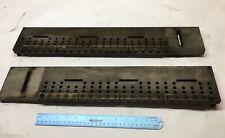 Edm Ruler Fixture 22 38 X 4 X 34 Qty 2 Threaded Holes Steel Nice
