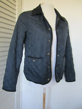 LADIES TOPSHOP NAVY BLUE ELBOW PATCH QUILTED JACKET BLAZER SIZE 6 TOP PARKA