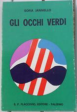 """Sofia Jannello """"Gli occhi verdi"""" Flaccovio, Palermo 1970"""