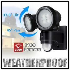 20W MOTION PIR Sensor OUTDOOR TWIN LED FLOODLIGHT Garden Spotlight SecurityLight