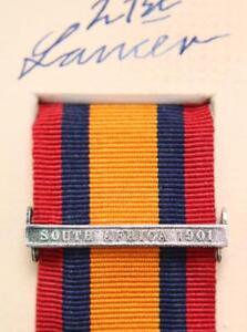 Qsa Ksa Reines Sud Afrique 1901 Médaille Ruban Barre Fermoir Boer War Campagne