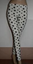 Bellissimo Leggins bianco e nero con stelle xs s m 38 40 42