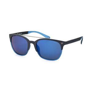 POLICE Game 5 SPL161 J24B Sonnenbrille Schwarz matt Blau polarisiert verspiegelt