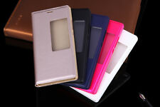 Neuf Coque Etui Housse Support Huawei Ascend P8 Flip Cover Fenêtre Protection +