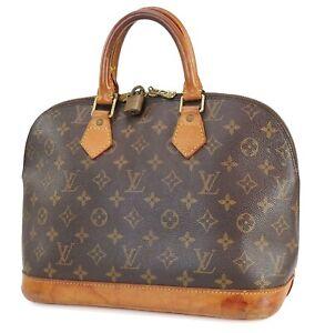 Authentic LOUIS VUITTON Alma Monogram Hand Bag Purse #40853