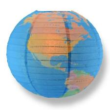 """14"""" Geographical World Map Earth Globe Paper Lantern"""