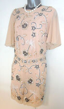 BNWT Love Label Embellished Pink Evening Occasion Playsuit  18 NEW