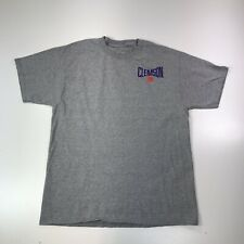 Clemson Tigers Mens T-Shirt by Champion Size Large Tigers Gray Short Sleeve #515