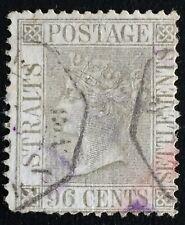 MALAYA 1867 STRAITS SETTLEMENTS QV 96c Used French Paquetbot cancel wmk CC SG#19