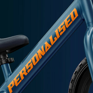 2x Personalised Bike Frame Text Lettering Decal Stickers BMX Mountain Bike