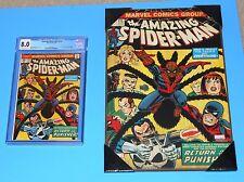 "The Amazing Spider-Man #135 CGC 8.0  plus19"" x 13"" Wooden Poster"