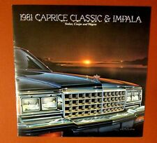 Original 1981 Chevy CAPRICE Dealer Sales Brochure Sedan Coupe Station Wagon 20pg