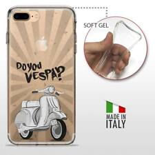 iPhone 7 Plus TPU CASE COVER PROTETTIVA GEL TRASPARENTE VINTAGE Do You Vespa
