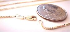 10kt Yellow Gold 24 inch .8MM BOX CHAIN  with Lobster Lock - FREE SHIPPING!