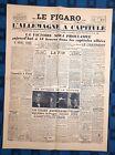 La Une Du Journal Le Figaro Mardi 8 Mai 1945 L?Allemagne A Capitulé