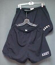 """""""Lot of 2"""" ARMY Physical Fitness Lined Nylon Athletic Shorts Trunks L Reflective"""