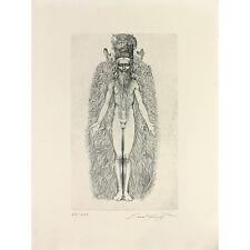 """Ernst Fuchs-une incroyable Original Gravure """"la création du Adam Kadmon"""""""