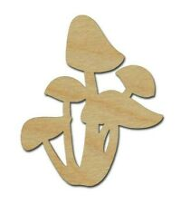 Mushroom Unfinished Wood Cut Out Laser Cut Crafts Style #02 Made In USA