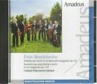 MENDELSSOHN OTTETTO PER ARCHI I Solisti Filarmonici Italiani CD Audio Amadeus