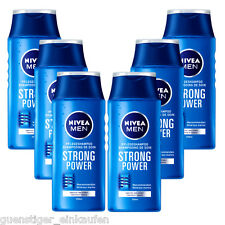 ( 16,79€/ L) 6x 250ml NIVEA MEN STRONG POWER Champú de cuidado MINERALES DEL MAR