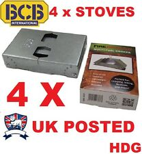 4X FOLDING RATION COOKER STOVE MULTI FUEL HEXI GEL OFFICAL BRITISH ARMY BCB