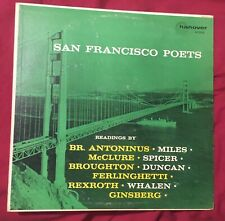 SAN FRANCISCO POETS LP Hanover beat Ferlinghetti Ginsberg Broughton Rexroth