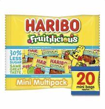Haribo Fruitilicious 20 Mini Bags Sugar Reduced Sweets 320g halloween sweets