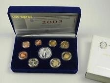 *** EURO KMS ITALIEN 2003 PP Polierte Platte Kursmünzensatz Italy Coin Set ***